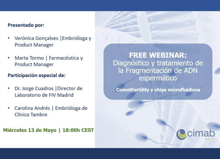 FREE WEBINAR: Diagnóstico y tratamiento de la Fragmentación de ADN espermático -CometFertility y chips microfluídicos-